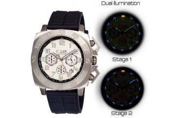 Equipe Tritium Push Mens Watch, Black-Silver-White EQUET307