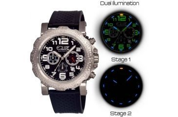 Equipe Tritium Rivet Mens Watch, Black-Silver-Black EQUET203