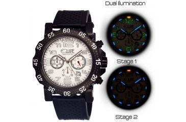 Equipe Tritium Rivet Mens Watch, Black-White-Black EQUET207