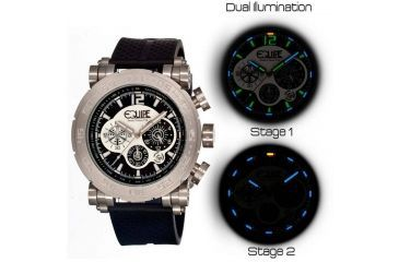 Equipe Tritium Stud Mens Watch, Black-Silver-Multicolor EQUET501