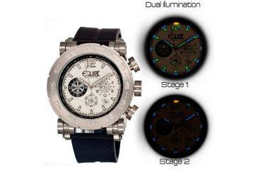 Equipe Tritium Stud Mens Watch, Black-Silver-White EQUET502