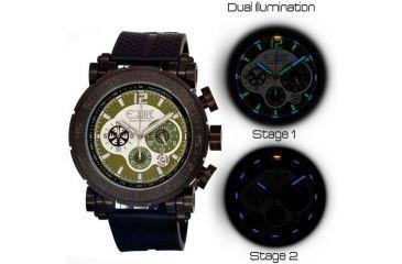 Equipe Tritium Stud Mens Watch, Black-Olive EQUET506