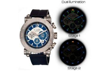 Equipe Tritium Stud Mens Watch, Black-Silver-Blue EQUET508