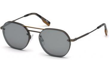 791ddd1250a5 Ermenegildo Zegna EZ0105 Sunglasses - Shiny Gumetal Frame Color, Smoke  Mirror Lens Color