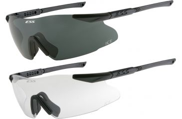 95c90a67f3 ESS ICE 2.4 Interchangeable Component Eyeshield Safety Glasses 2-Lens Kit -  6in. temples