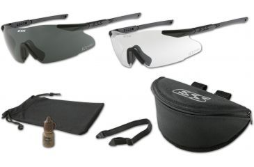 ESS ICE 2.4 Interchangeable Component Eyeshield Safety Glasses 2-Lens Kit - 6in. temples 740-0003