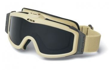 ESS Profile TurboFan Military/Tactical Goggles - Desert Tan Frame, Clear & Smoke Gray Lenses