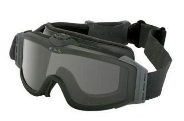 cc10314b7bab ESS Profile TurboFan Military/Tactical Goggles - Black Frame, Clear & Smoke  Gray Lenses