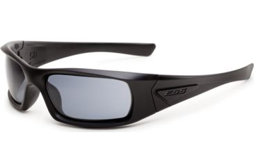 ESS Sunglasses 5B Black Frame/Polarized Mirrored Gray Lens