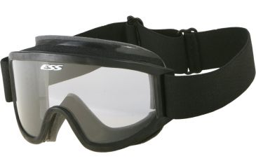 ESS Tactical XT Military Goggles with Black Frame, Clear Lens and 40mm Strap - 740-0243