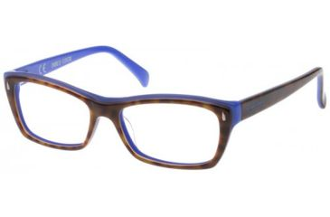 Exces 3102 Eyeglasses - Demi Amber-Blue Frame w/ Clear Lenses,Size 53-16-135 3102-142