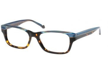 Exces 3103 Eyeglasses - Striped Blue-Tortoise Frame w/ Clear Lenses,Size 52-17-145 3103-312