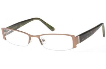 Exces 3104 Eyeglasses - Brown-Green Marble Frame w/ Clear Lenses,Size 52-18-135 3104-805