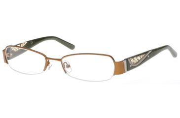 Exces Womens 3086 Eyeglasses - Brown-Olive Frame w/ Clear Lenses, Size 51-17-135, 51-17-135 3086-217