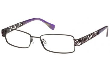 Exces Womens Princess 113  Eyeglasses - Black-Lavender Frame w/ Clear Lenses, Size 52-16-135, 52-16-135 P113-491