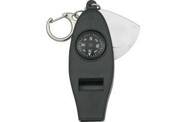 Explorer Emergency Whistle w/ Compass and Thermometer, Carabiner Clip EXP24