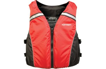 Extrasport Volksvest Life Vest, M , L Size for Adult, Nylon, Black 0710001164