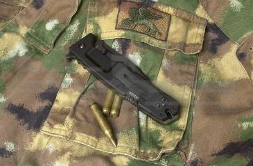 Extrema Ratio MPC Folding Knife,Serrated, Black Anodized Aluminum Alloy Handle EX136MPC