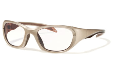 F8 MORPHEUS 2 Protective Eyewear Metallic Light Brown Frame,Clear Silver Flash Lens, Unisex MORPH2MTLB5317130CSF