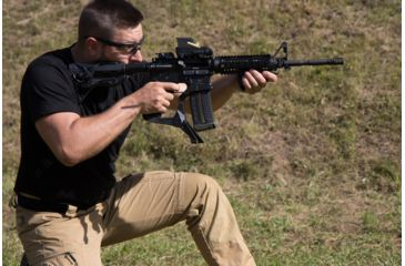 15-FAB Defense AR-15 Quick Deployment Bipod with an Integrated AGR-43 Pistol Grip