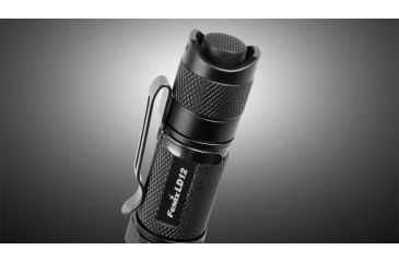 Fenix LED Flashlight with Battery, Black, 125 LD12G2BK-B