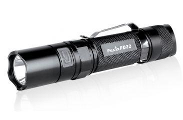 Fenix LED Flashlight with Holster and Battery, Black, 340 PD32G2BK-B
