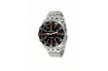 Firemark F1092 Mens Watch w/ Metal Bracelet, Orange Numbers