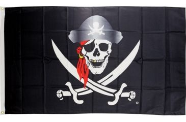 Flags Skull with Red Scarf Flag SU5780