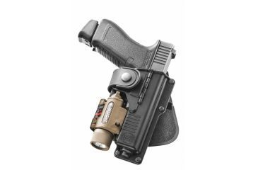 Fobus Fits Glock 17, 22, 31 with Laser or Light and Hinged Natural Draw  Holster