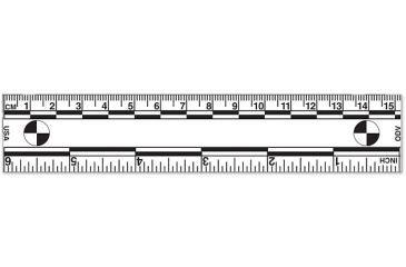 Forensics Source Magnetic Vinyl Ruler, 6 in., White FS-R-0023