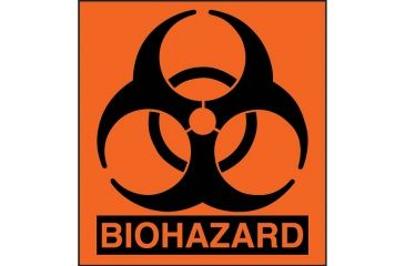Forensics Source Small Biohazard Label 1x1, 100-Pack BSS