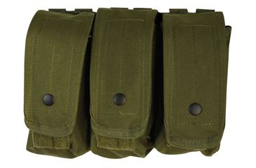 Fox Outdoor AR-15/AK-47 Triple Mag Pouch, Olive Drab 099598570309