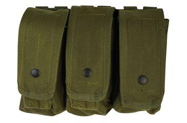 Fox Outdoor AR-15/AK-47 Triple Mag Pouch, Olive Drab 099598570309