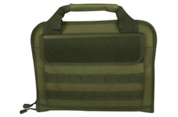 Fox Outdoor Dual Tactical Pistol Case, Olive Drab 099598553005