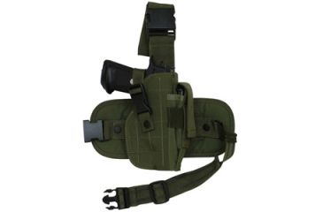 Fox Outdoor Mission Ready Drop Leg Holster, Olive Drab 099598580087