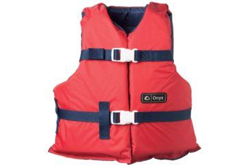 Full Throttle Universal General Purpose Life Vest, for Adult, Nylon, Foam, Red, Navy 33520131