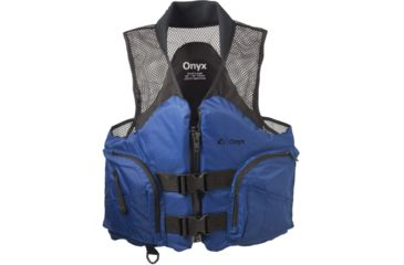 Full Throttle Mesh Deluxe Sport Vest, M Size for Adult, Ripstop Nylon Collar, Sapphire 96730077