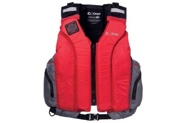 Full Throttle Riverton Paddle Sports Vest, L , XL Size for Adult, Nylon, Foam Panel, Shoulders, Gray, Red 5030RED05
