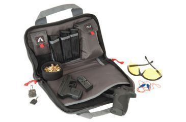 G*Outdoors 1308PC Double Pistol Case W/Quilted Tricot Lining Nylon Black