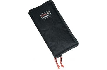 G. Outdoors Products Padded Pistol Sleeve with Zipper, Black, Large GPS-1265PS