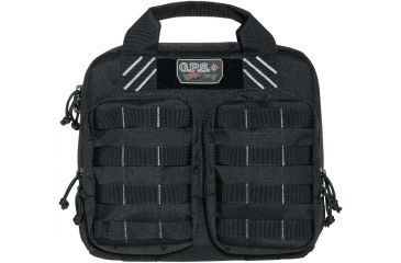 G. Outdoors Products Tactical Double Storage Unit with 2 Pistol Case, Black GPS-T1412PCB
