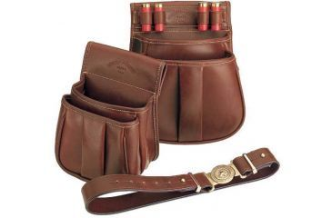Galco 25 Ct Trap & Skeet Shell Pouch Leather Ambidextrous - Chestnut SL1046CN