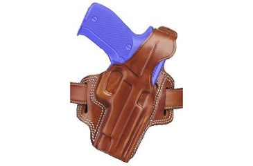 Galco Fletch Concealment Leather Paddle Holster, Tan, Right Hand - S&W L Frame 686 4in