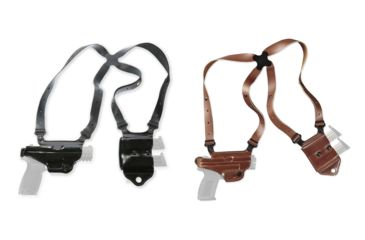 1-Galco Miami Classic II Shoulder Harness System, Leather