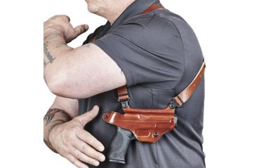 6-Galco Miami Classic II Shoulder Harness System, Leather