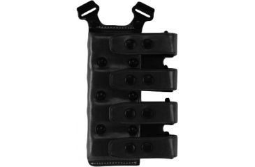 Galco Quad Magazine Carrier Ambidextrous Black Staggered 40 Polymer Pistol Mags Qcl24b