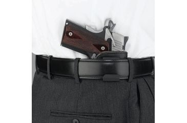 Galco Scout Clip On Inside Pant Holster w/ Black Mouthband - In Use