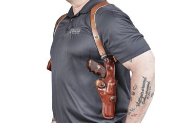"""2-Galco Vertical Ambidextrous Shoulder Holster Component for S&W L Fr 686 4"""""""