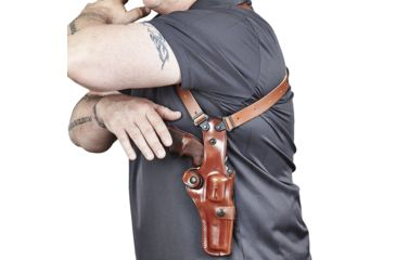 """3-Galco Vertical Ambidextrous Shoulder Holster Component for S&W L Fr 686 4"""""""