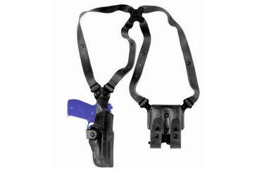 Galco VHS Shoulder System, Ambidextrous, Black - Glock 19 - VHS226B